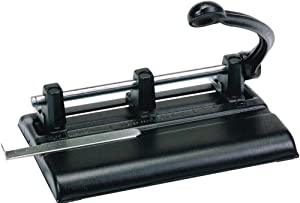 """Martin Yale 1340PB Master 3-Hole Punches with Power Handle, 13/32"""" Hole Diameter, Punches up to 40-Sheets of 20 lb. Bond Paper, Accepts 2 to 7 Punch Heads"""