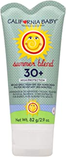 product image for California Baby Face & Body Sunscreen Lotion SPF 30+, Summer Blend, 2.9 oz