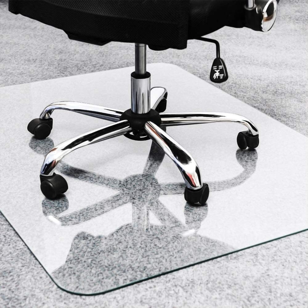 "TOMIR Office Chair Mat for Hardwood Floor, 48"" x 36"", Clear Rectangle Home Office Chair Mat for Hard Floor, Desk Chair Mat"