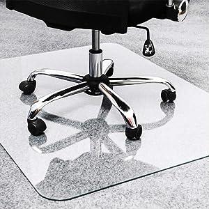 """TOMIR Office Chair Mat for Hardwood Floor, 48"""" x 36"""", Clear Rectangle Home Office Chair Mat for Hard Floor, Desk Chair Mat"""
