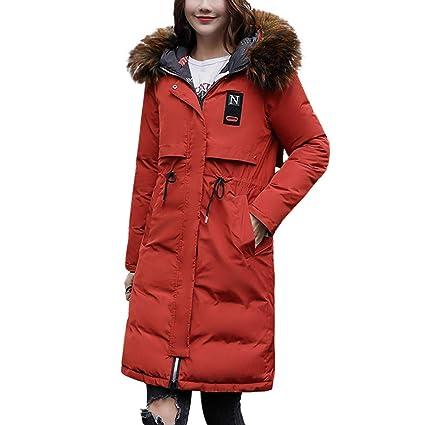 10b48807d173 Sunward Women's Down Coat with Faux Fur Hood Parka Jacket Winter Warm Thick  Overcoat (3XL