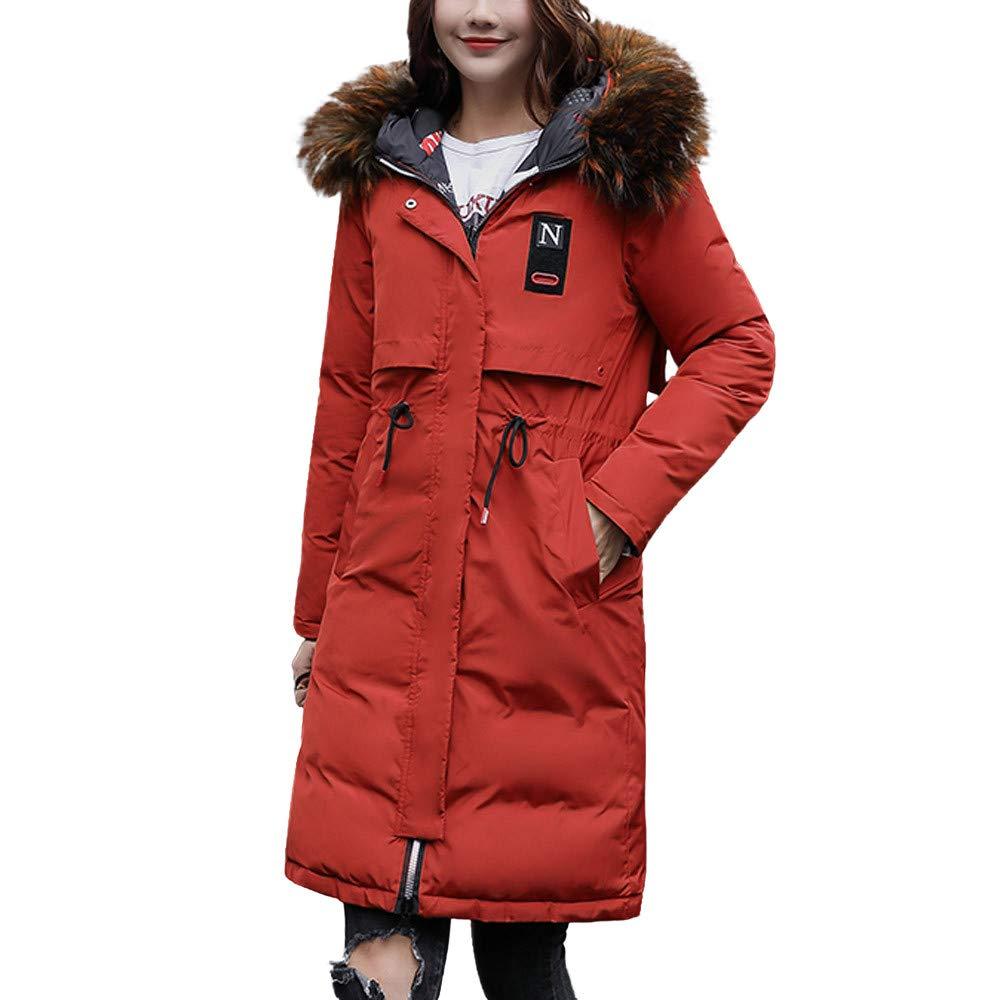 PENATE Women's Winter Warm Down Jacket Slim Plush Both Sides Wear Cotton Coat