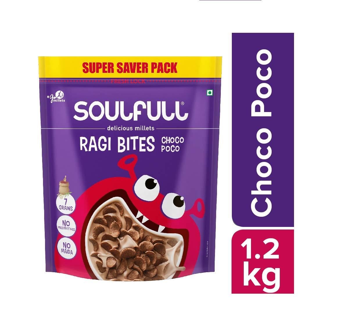 Soulfull Ragi Bites- Choco Poco, 1.2kg- No Maida