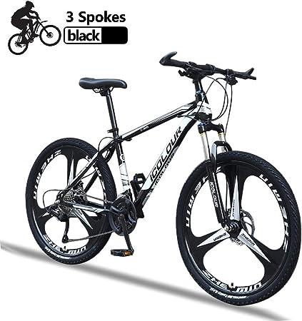 Mountain Bike Mujer Bicicleta Montaña Adulto 26 Pulgadas con Freno de Disco Frenos Suspensión Bici Montaña de Acero de Alto Carbono,Negro,27 Speed: Amazon.es: Hogar