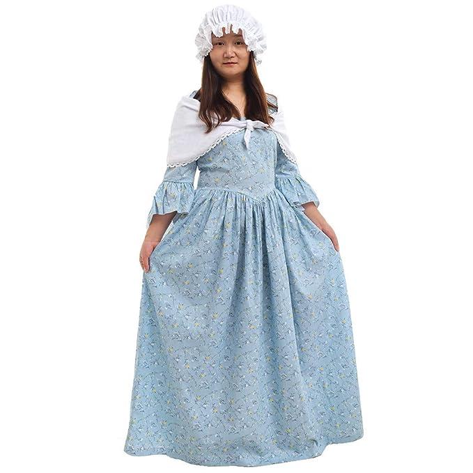 e4de455b0 GRACEART Vestido de Traje de Mujer pionero Colonial Doncella ...