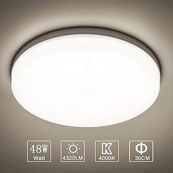Plafonnier LED Moderne,/Öuesen 18W Ultra mince Lampe de Plafond imperm/éable /à leau LED Plafonnier Parfait pour Couloir,Balcon,Salle De Bains,Salon,Cuisine,H/ôtel,Toilettes,Blanc Froid,1650LM