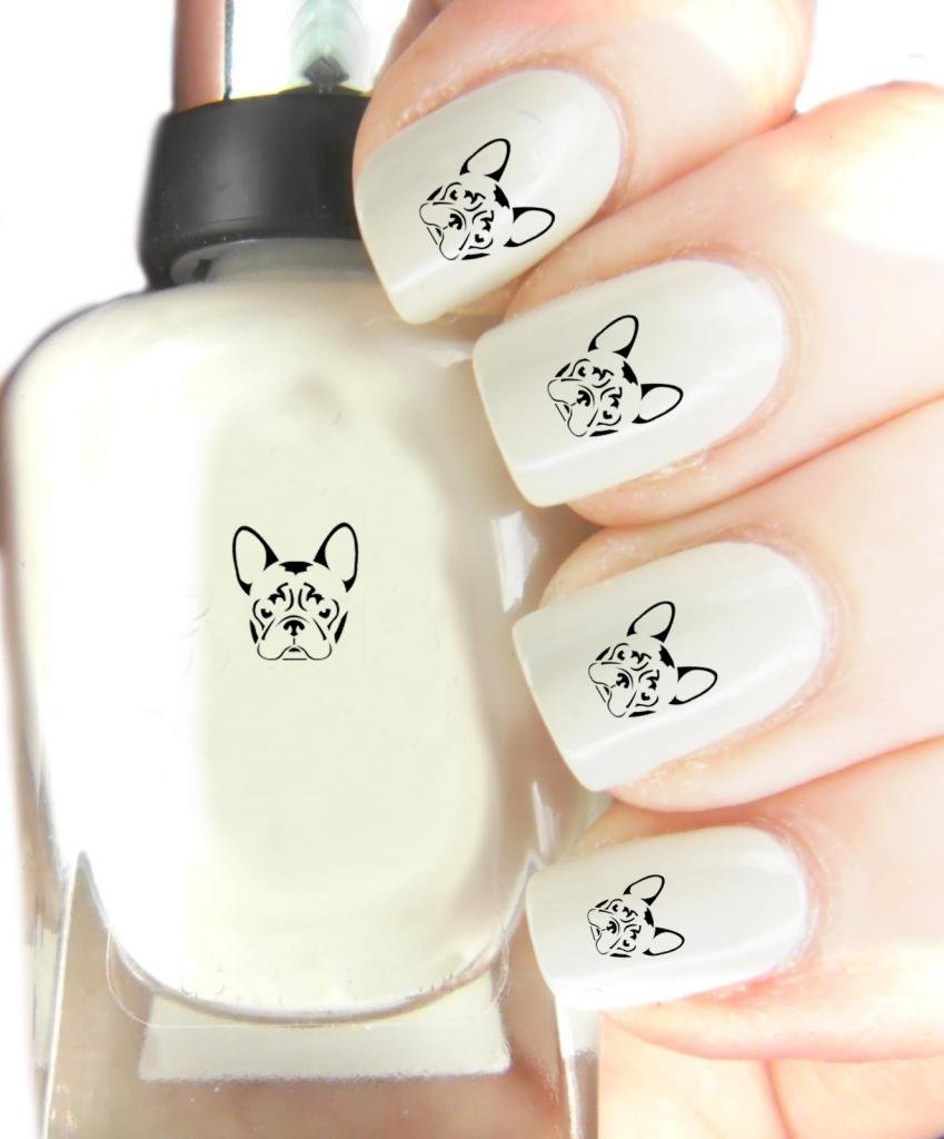 Easy to use, High Quality Nail Art Decal Stickers For Every Occasion! Ideal Christmas Present / Gift - Great Stocking Filler French Bulldog SNAD