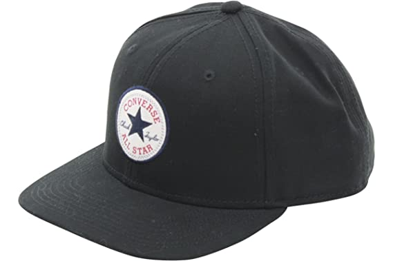 6976e67d62396 Converse Men s Core Snap Back Black Cotton Cap Baseball Hat (One ...