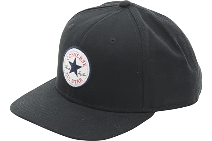 05a20f4e198 Image Unavailable. Image not available for. Color  Converse Men s Core Snap  Back Black Cotton Cap Baseball Hat ...