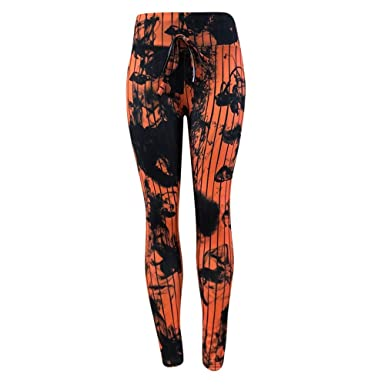 cef756462e0287 URIBAKE ❤ Women's Leggings Workout Tights Fitness Sports Gym Running Yoga  Athletic Pants(Orange,