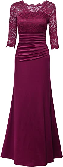 Women's Retro Floral Lace Vintage Formal Dress