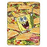 SpongeBob SquarePants, Mass Patties Micro Raschel Throw Blanket, 46'' x 60''