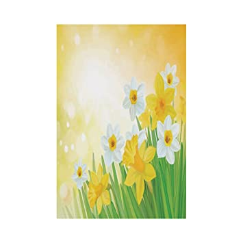 afc3b6690 Polyester Garden Flag Outdoor Flag House Flag Banner,Daffodil,Daffodils  Garden Narcissus Rebirth and