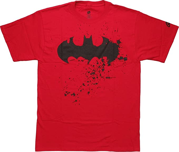 Amazon Batman Symbol Spatter T Shirt Clothing