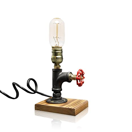 Lights & Lighting Smart Vintage Industrial Steampunk Water Piping E27 Retro Edison Wrought Iron Metal Top Table Lamp Steam Punk Bedside Study Desk Light