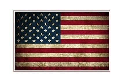 American Flag Vinyl Decal printed sticker
