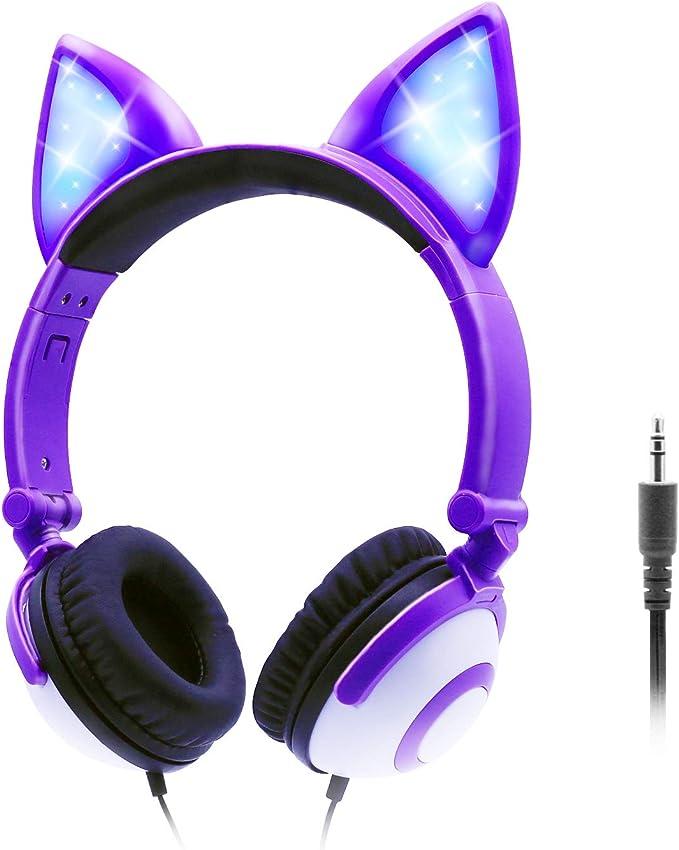 Onta Kopfhörer Kinder Mit Niedlichen Led Leuchtenden Elektronik