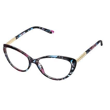 87d191f938 Forepin® Montura para Gafas de Vista Mujer Ojos De Gato Lente  Transparentes Unisexo Hombre -
