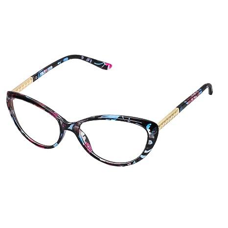 d35389672b389 Forepin reg  Montura para Gafas de Vista Mujer Ojos De Gato Lente  Transparentes Unisexo Hombre -