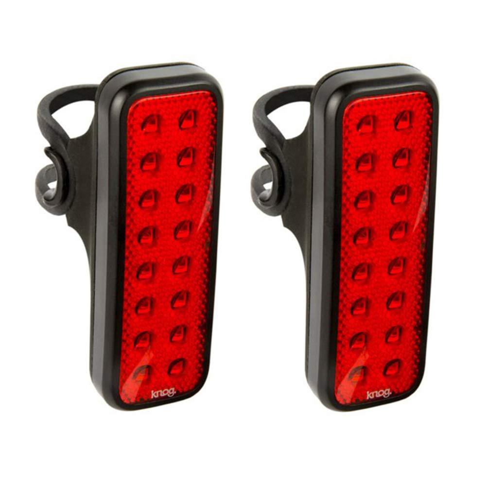 KNOG Blinder Mob V Kid Grid USB Rechargeable Rear Bike Light, Flashing or Steady Red LED, 2-Pack by KNOG