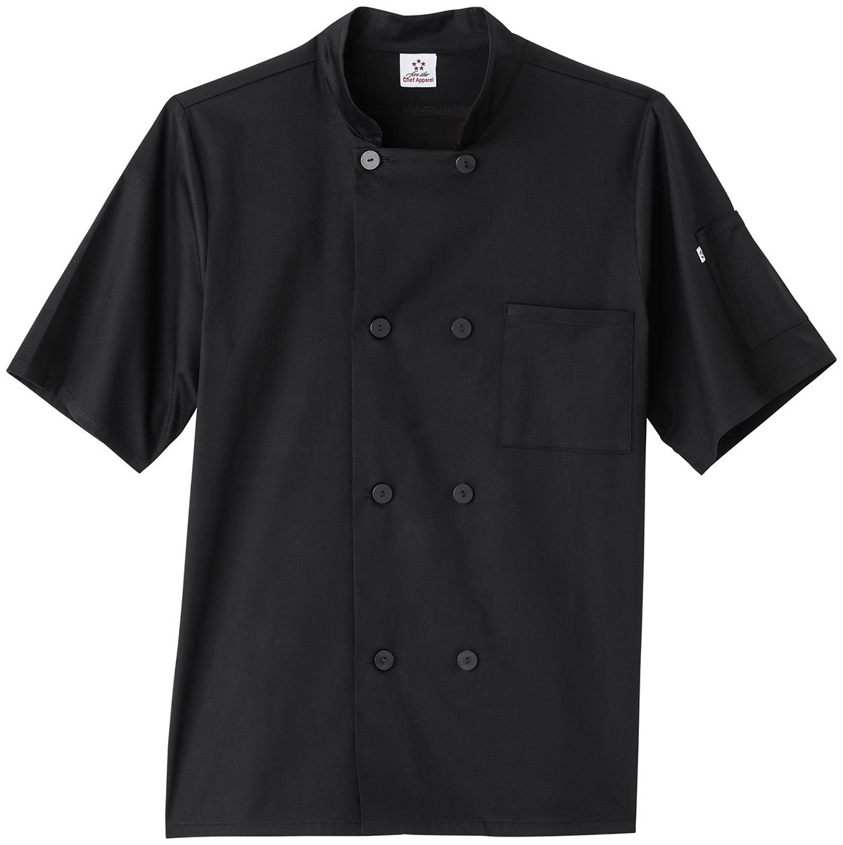 Five Star Chef Apparel Unisex Short Sleeve Stretch Executive Coat Encompass 18516