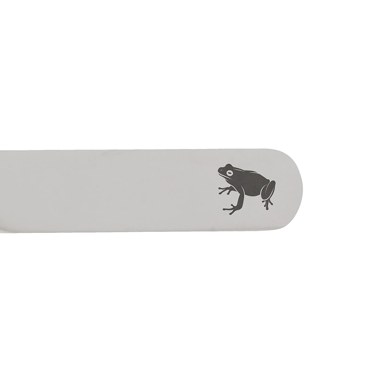 MODERN GOODS SHOP Stainless Steel Collar Stays With Laser Engraved Frog Design 2.5 Inch Metal Collar Stiffeners Made In USA
