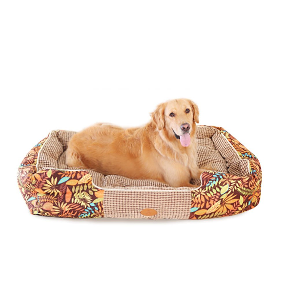 Multi-colord L Multi-colord L Dogs Bed House Pet Bed Sleeping Bag Cushioncat for Cats and Small Medium Large Dogs Best Pet Supplies Removable Wash-Brown (color   Multi-colord, Size   L)