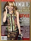 Vogue Magazine 2012 Special Edition Best-Dressed Issue - Emma Stone, Kristen Stewart, Jennifer Lawrence, Michelle Obama, Kate Upton, Lady Gaga, etc