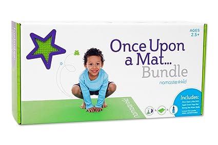 Namaste Kid Kids Yoga DVD, Water Bottle, and Yoga Mat - Once Upon a Mat Bundle