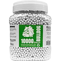 Bulldog - [10000] Airsoft 10K Pellets [0.20g] Biodegradable [6mm White] Triple Polished [Pro Team Grade]