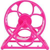 POPETPOP Hamster Exercise Wheel Running Wheel Pet Exercise Toys for Hamsters Gerbil Mice Other Small Pet Rosy
