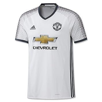 Adidas Youth 16/17 Camiseta del Manchester United de 3rd Jersey - AI6687, Blanco: Amazon.es: Deportes y aire libre