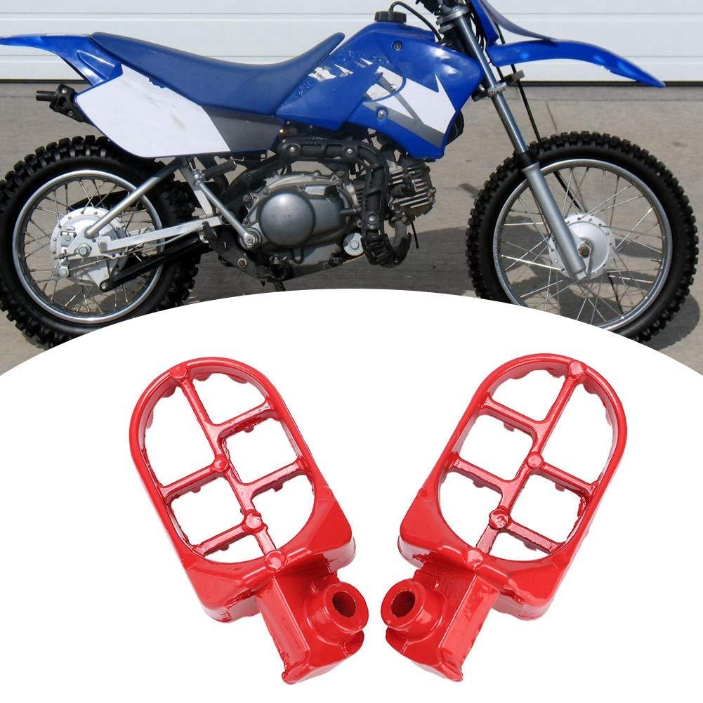 Alinory 2pcs /À La Mode Pieds De Moto Repose-Pieds Rouge Gauche Droite En Alliage Daluminium Fit for Yamaha