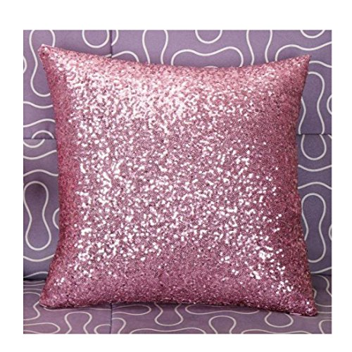 Usstore Pillow Case Glitter Sequins bedroom Decor Throw Cushion Cover (D)