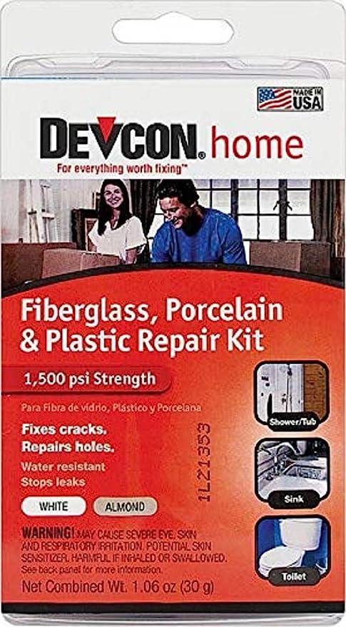 Amazon.com: Devcon Epoxy Bathtub Repair Kit (Almond & White): Home
