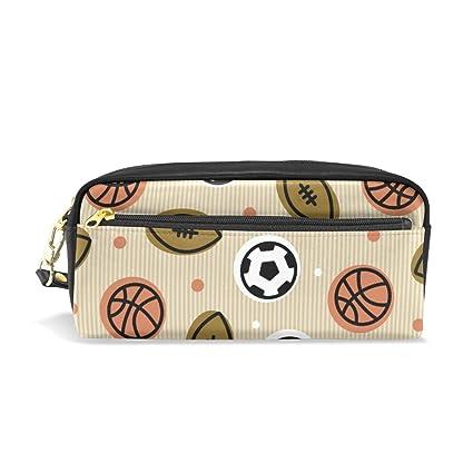 Estuche para lápices, diseño de balón de fútbol, rugby, baloncesto ...