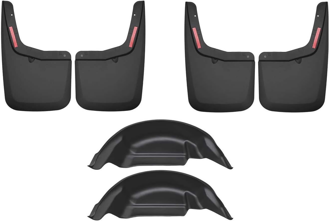 Husky Liners 59451 Rear Mud Guards Black 2015-2018 Ford F-150 OE Fender Flares