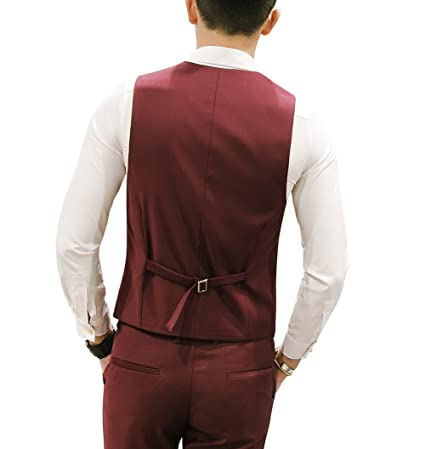 low priced d945f a51a1 MOGU Mens Waistcoat Causal Suit Vests 13 Colors at Amazon Men s Clothing  store