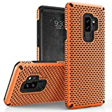Zizo Echo Series Compatible with Samsung Galaxy S9 Plus Case Dual Layered TPU and PC with Anti-Slip Grip Orange Black