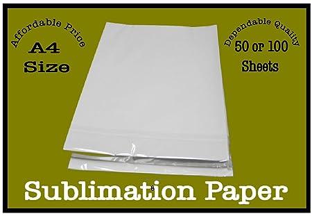 Pack de 50 o 100 hojas de sublicon de papel de sublimación - A4 ...