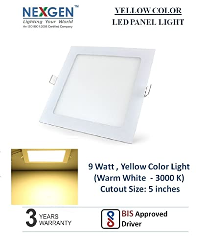 Buy 9 Watt LED False ceiling Panel Light, 5 inches cut out