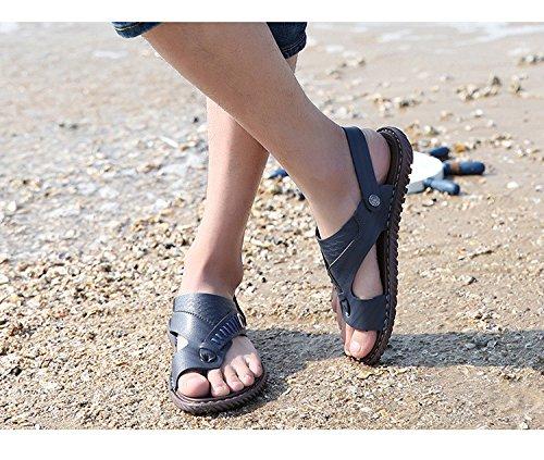Nuovi pantaloni sportivi antisdrucciolevoli dei sandali di estate degli uomini di estate Pattini di spiaggia doppio di uso dei pattini della spiaggia, azzurro, UK = 8.5, EU = 42 2/3