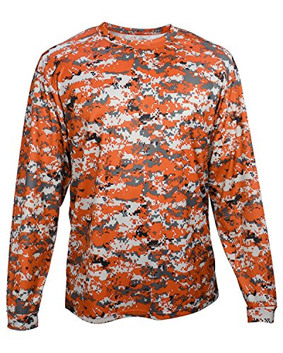 Badger Mens Long Sleeve Sublimated Tee (4184) -Burnt Orange - Long Burnt T Orange Sleeve Shirt