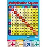 Educational Multiplication Square Maths School Poster Chart (40x60cm)