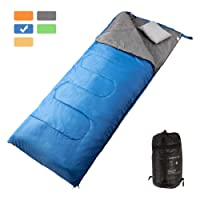 MASVIS Lightweight Kids Sleeping Bag with Warm Cotton Wide Outdoor Sleeping Bag Compact Ultralight Mummy Envelope Sleeping Bags for Adults