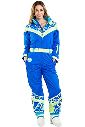 Amazon.com  Women s Neon Ski Suit with Triangles - Vintage Inspired ... 9186e1827