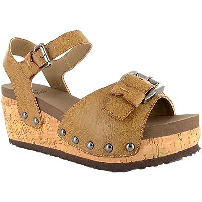 Corkys Women's Buckle Wedge Sandal