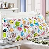 Bedside Double Pillow/ Cushions Bedside Pattern Fiber Fabric Pad (multi-color / Multi-size Optional) ( Color : B , Size : 15050cm )
