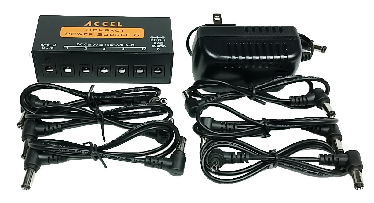 Power Supply for Guitar Effects Pedals''Accel Compact Power Source 6'' by ACCEL