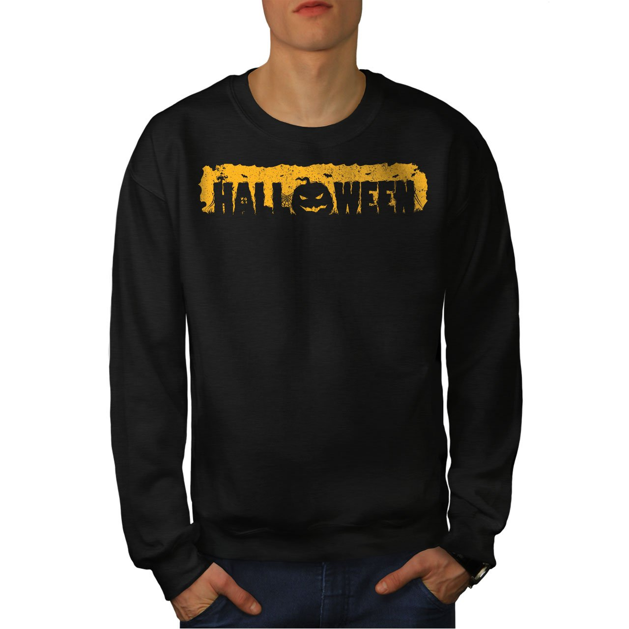 Cool Casual Jumper wellcoda Pumpkin of Halloween Mens Sweatshirt